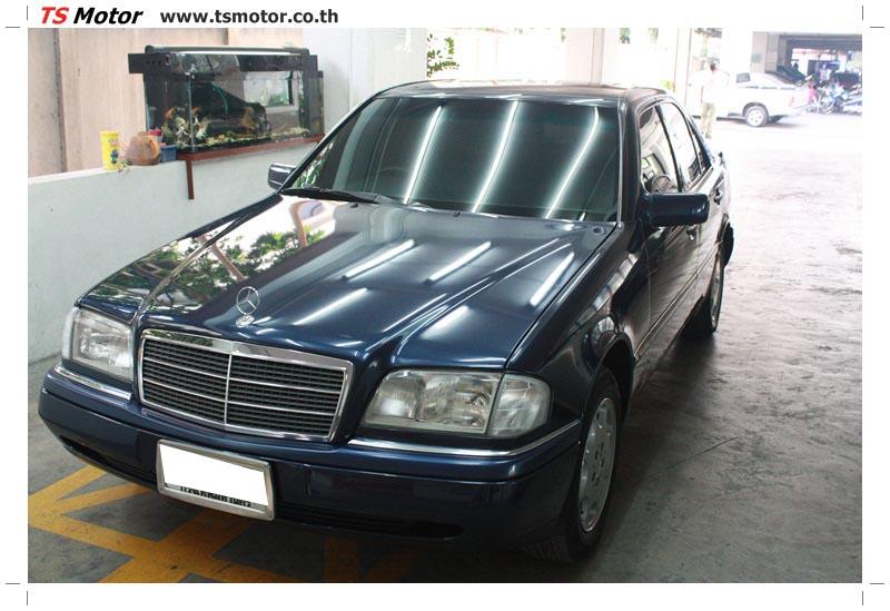 IMG 5703 อู่สีรถ งานซ่อมสี Mercedes Benz C230  W204 สีดำ โดยศูนย์ซ่อมสีรถยนต์ TS Motor