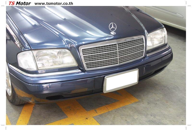 IMG 5705 อู่สีรถ งานซ่อมสี Mercedes Benz C230  W204 สีดำ โดยศูนย์ซ่อมสีรถยนต์ TS Motor