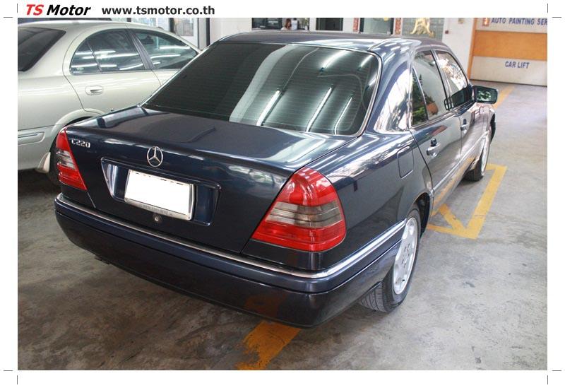 IMG 5707 อู่สีรถ งานซ่อมสี Mercedes Benz C230  W204 สีดำ โดยศูนย์ซ่อมสีรถยนต์ TS Motor