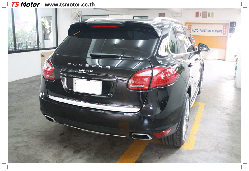 IMG 5724 งานซ่อมสี เปลี่ยนอะไหล่ PORSCHE CAYENNE สีดำ โดยอู่ซ่อมสีรถยนต์ TS MOTOR