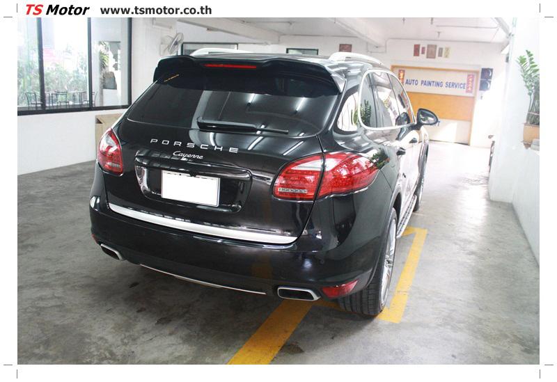 IMG 5727 งานซ่อมสี เปลี่ยนอะไหล่ PORSCHE CAYENNE สีดำ โดยอู่ซ่อมสีรถยนต์ TS MOTOR