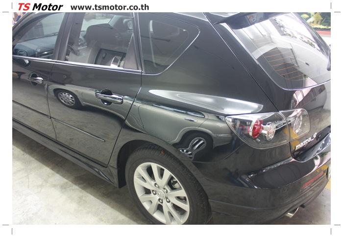IMG 6007 ผลงานทำสีรถ มาสด้า3  เคลมประกันซ่อมห้างเก็บสี Mazda 3  สีดำ เงาสุดๆกับ TS MOTOR
