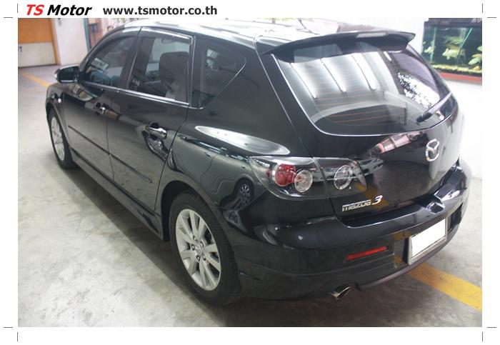 IMG 6008 ผลงานทำสีรถ มาสด้า3  เคลมประกันซ่อมห้างเก็บสี Mazda 3  สีดำ เงาสุดๆกับ TS MOTOR