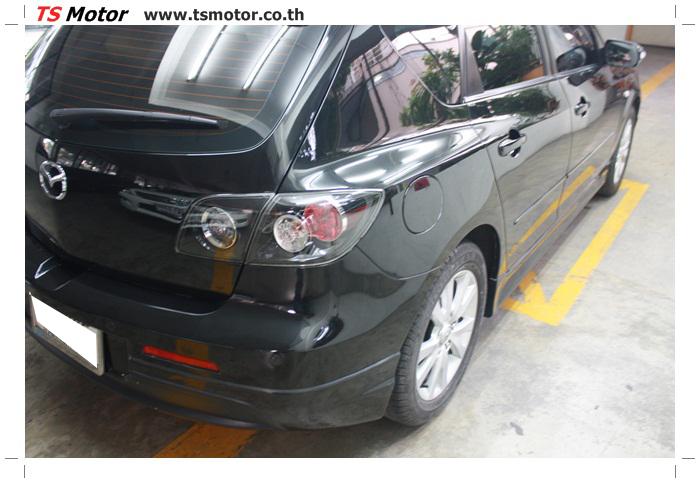 IMG 6010 ผลงานทำสีรถ มาสด้า3  เคลมประกันซ่อมห้างเก็บสี Mazda 3  สีดำ เงาสุดๆกับ TS MOTOR