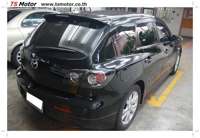 IMG 6011 ผลงานทำสีรถ มาสด้า3  เคลมประกันซ่อมห้างเก็บสี Mazda 3  สีดำ เงาสุดๆกับ TS MOTOR
