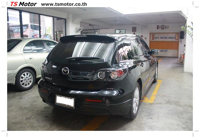 IMG 6012 ผลงานทำสีรถ มาสด้า3  เคลมประกันซ่อมห้างเก็บสี Mazda 3  สีดำ เงาสุดๆกับ TS MOTOR