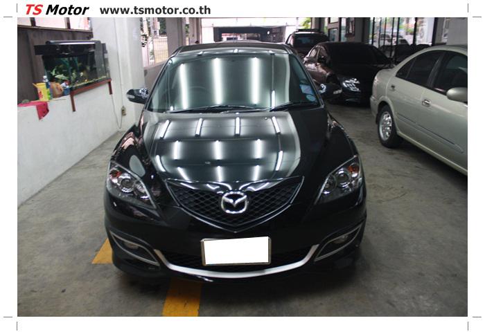 IMG 6013 ผลงานทำสีรถ มาสด้า3  เคลมประกันซ่อมห้างเก็บสี Mazda 3  สีดำ เงาสุดๆกับ TS MOTOR