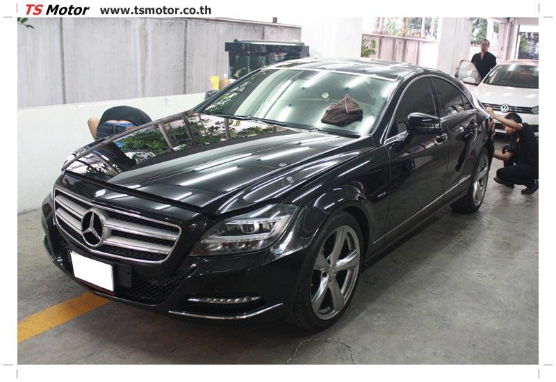 IMG 6157 งานพ่นสีกันชนหน้า กันชนหลัง Mercedes Benz CLS สีดำ พร้อม Glass Coating ใหม่ทั้งคัน
