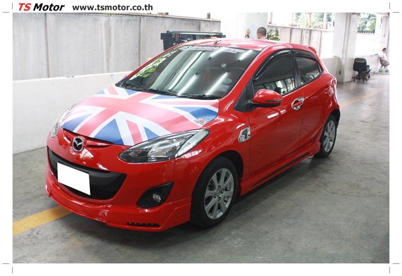IMG 6160 อู่ สี รถ มาสด้า 2  งานซ่อมสี ตัวถัง กันชน เสกิร์ต ชิ้นส่วนต่างๆ Mazda 2  สีแดง