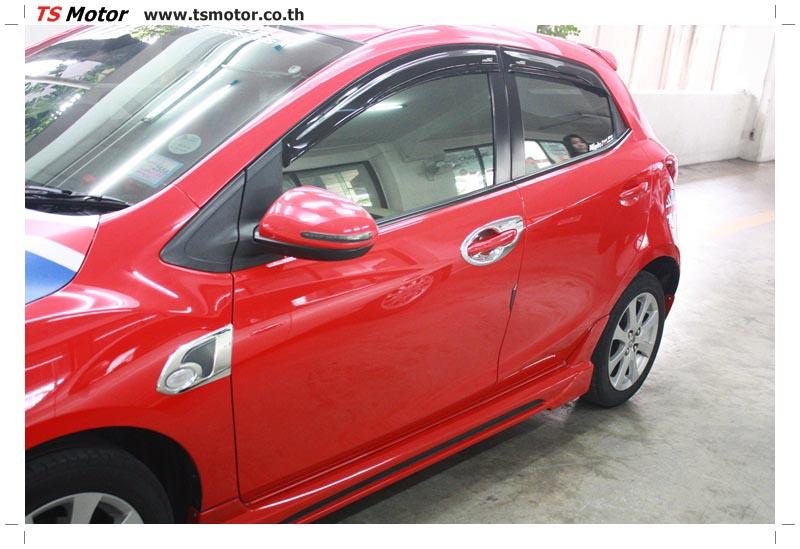 IMG 6161 อู่ สี รถ มาสด้า 2  งานซ่อมสี ตัวถัง กันชน เสกิร์ต ชิ้นส่วนต่างๆ Mazda 2  สีแดง