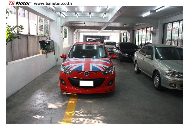 IMG 6166 อู่ สี รถ มาสด้า 2  งานซ่อมสี ตัวถัง กันชน เสกิร์ต ชิ้นส่วนต่างๆ Mazda 2  สีแดง