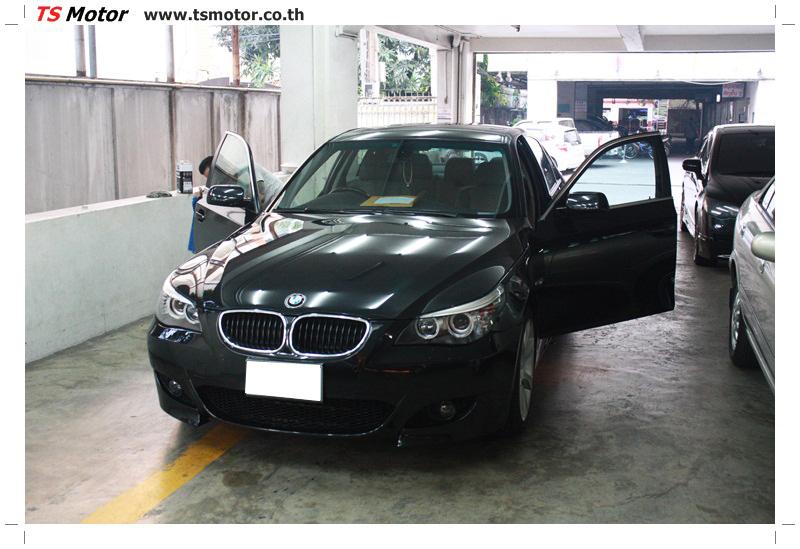IMG 6212 งานซ่อม BMW ซีรีย์ 5 E60 สีดำ ซ่อมสีกันชนหน้า ครูดแตก พร้อมหล่อชิ้นงานพลาสติกใหม่