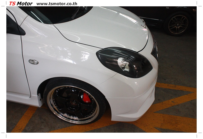 IMG 6273 รถแต่ง VIP สุดเฟี้ยว NISSA AMERA สีขาว โหลดถุงลม เข้ามาซ่อมสีกับ TS Motor