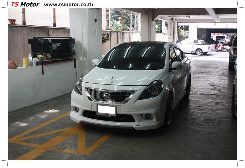 IMG 6275 รถแต่ง VIP สุดเฟี้ยว NISSA AMERA สีขาว โหลดถุงลม เข้ามาซ่อมสีกับ TS Motor