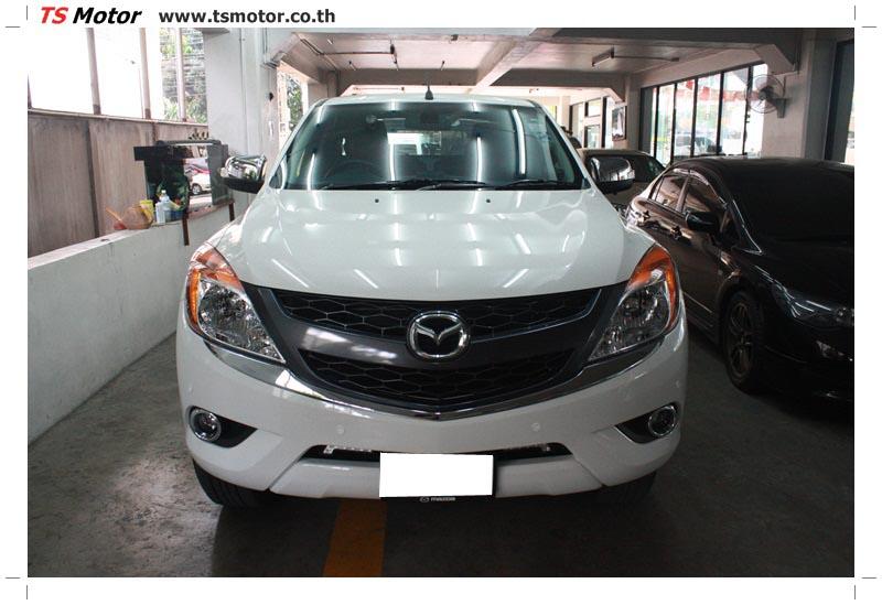 IMG 6318 งานซ่อมสีรถ Mazda BT50 สีขาว แถบกระบะจากการเบียดเสา