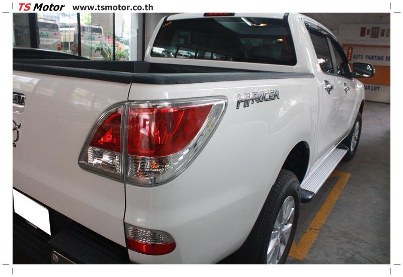 IMG 6320 งานซ่อมสีรถ Mazda BT50 สีขาว แถบกระบะจากการเบียดเสา