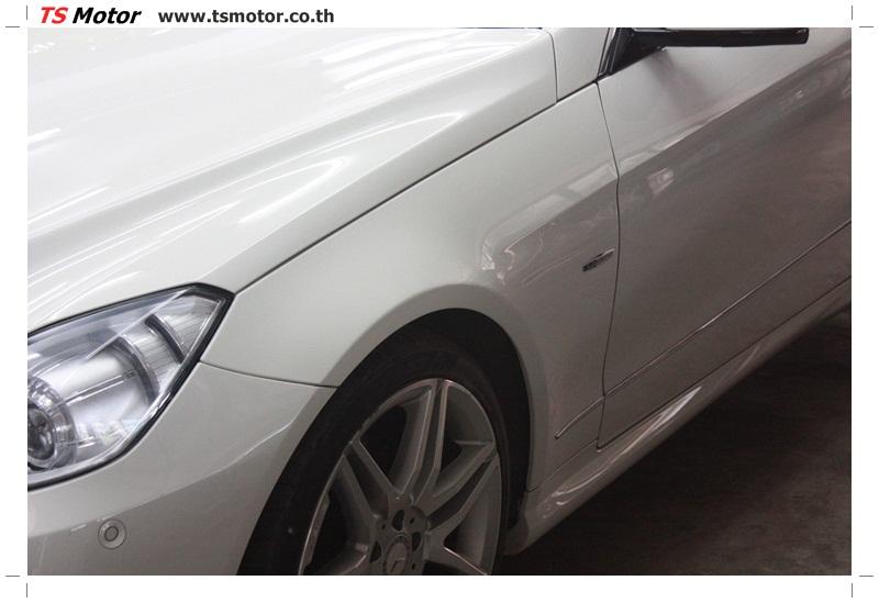 IMG 6335 งานซ่อมสีบังโคลนหน้า กันชน เปลี่ยนไฟหน้า Mercedes Benz E250 Coupe สีขาว