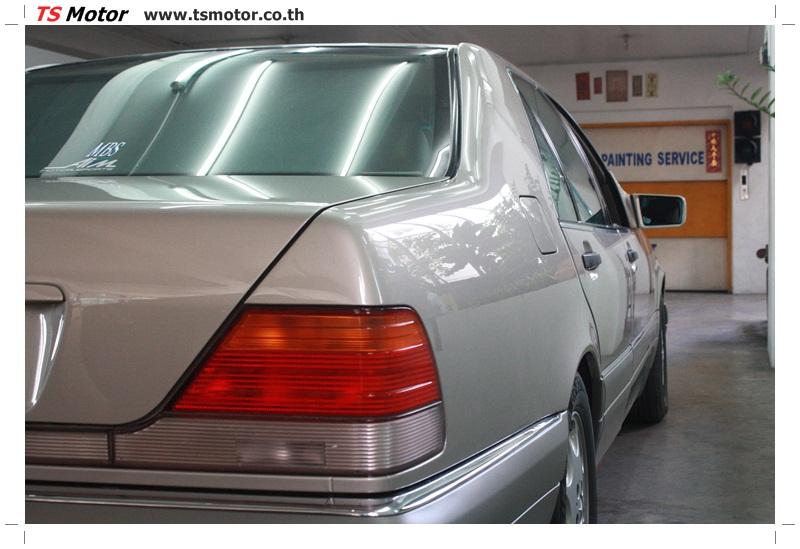 IMG 6361 เคลมประกัน พ่นสีรอบคัน Mercedes S CLASS จากลูกค้าเจ้าเก่า โดยอู่สีรถ ที เอส มอเตอร์