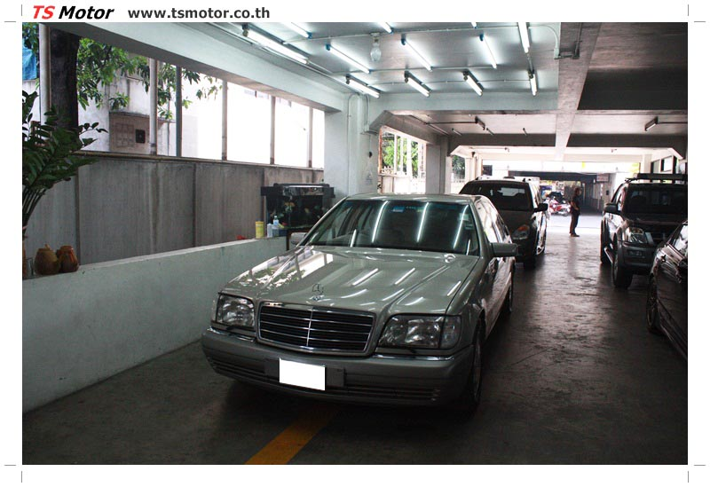 IMG 6366 เคลมประกัน พ่นสีรอบคัน Mercedes S CLASS จากลูกค้าเจ้าเก่า โดยอู่สีรถ ที เอส มอเตอร์