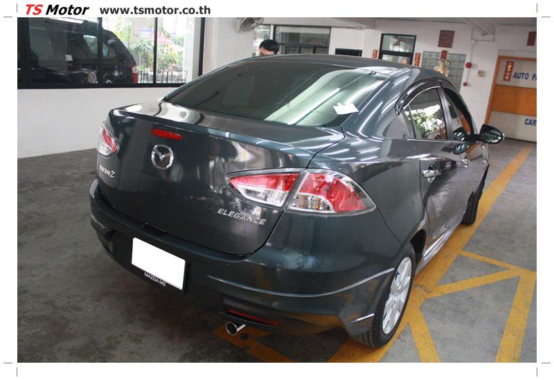 IMG 6467 ผลงานทำสีรถ มาสด้า2  เข้ามาเคลมประกัน เก็บสีต่างๆ Mazda 2  สีเทาดำ