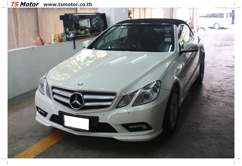 IMG 6519 งานซ่อมสีบังโคลนหน้า กันชน และส่วนอื่นๆ Mercedes Benz E350 Cabriolet สีขาว จัดให้เนียนที่ TS Motor