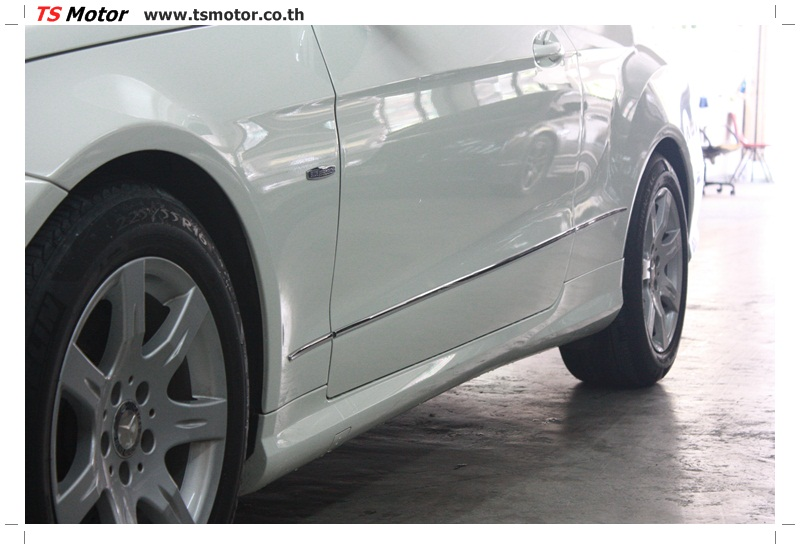 IMG 6520 งานซ่อมสีบังโคลนหน้า กันชน และส่วนอื่นๆ Mercedes Benz E350 Cabriolet สีขาว จัดให้เนียนที่ TS Motor