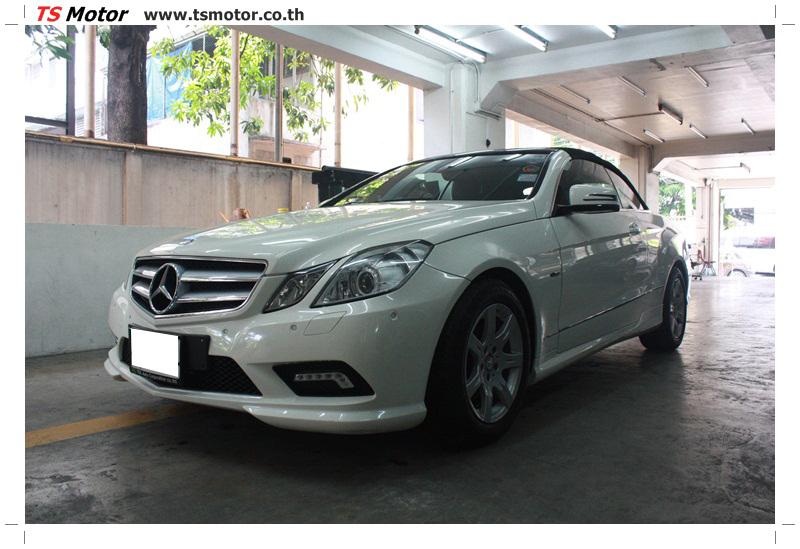 IMG 6521 งานซ่อมสีบังโคลนหน้า กันชน และส่วนอื่นๆ Mercedes Benz E350 Cabriolet สีขาว จัดให้เนียนที่ TS Motor