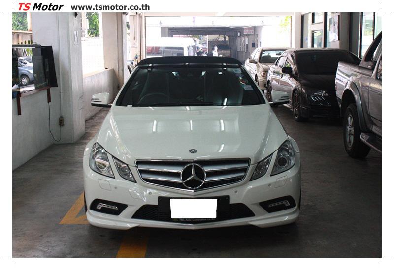 IMG 6523 งานซ่อมสีบังโคลนหน้า กันชน และส่วนอื่นๆ Mercedes Benz E350 Cabriolet สีขาว จัดให้เนียนที่ TS Motor
