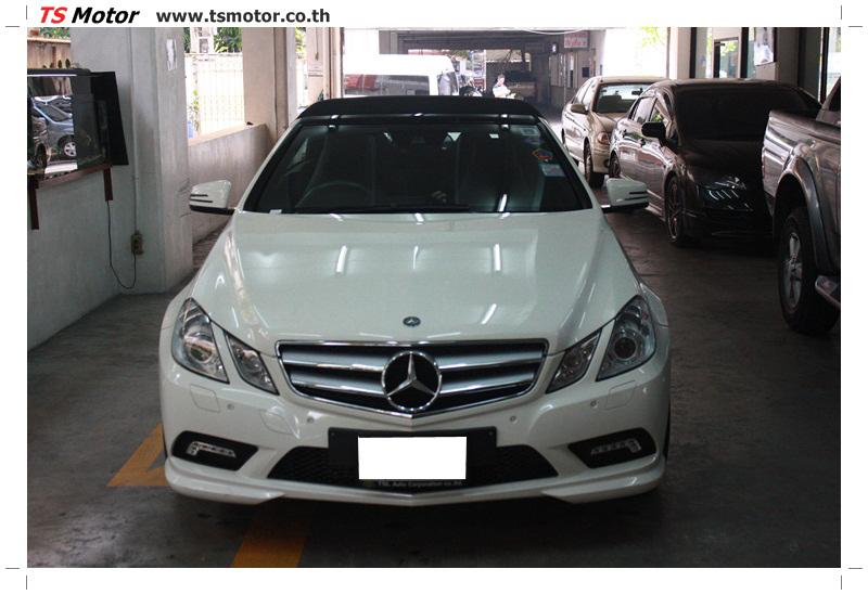 IMG 6524 งานซ่อมสีบังโคลนหน้า กันชน และส่วนอื่นๆ Mercedes Benz E350 Cabriolet สีขาว จัดให้เนียนที่ TS Motor