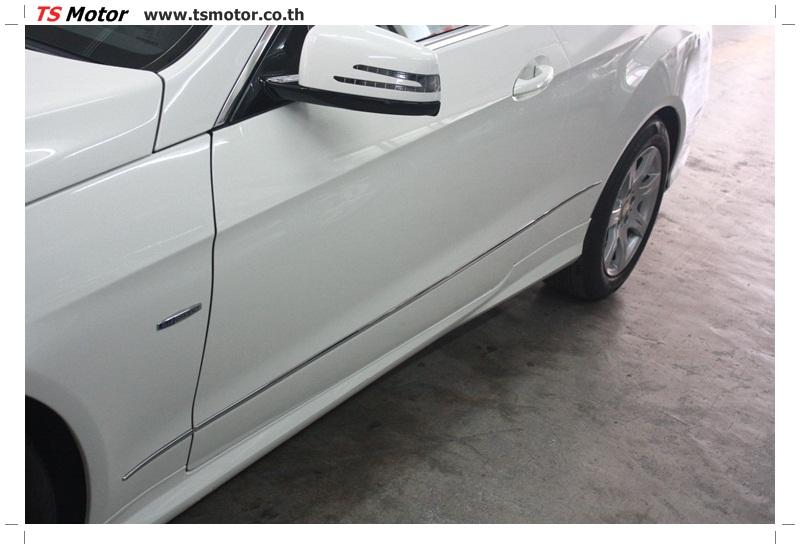 IMG 6525 งานซ่อมสีบังโคลนหน้า กันชน และส่วนอื่นๆ Mercedes Benz E350 Cabriolet สีขาว จัดให้เนียนที่ TS Motor