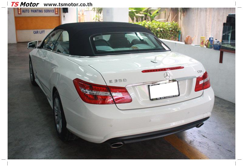 IMG 6527 งานซ่อมสีบังโคลนหน้า กันชน และส่วนอื่นๆ Mercedes Benz E350 Cabriolet สีขาว จัดให้เนียนที่ TS Motor