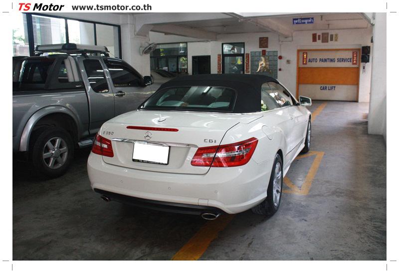IMG 6531 งานซ่อมสีบังโคลนหน้า กันชน และส่วนอื่นๆ Mercedes Benz E350 Cabriolet สีขาว จัดให้เนียนที่ TS Motor