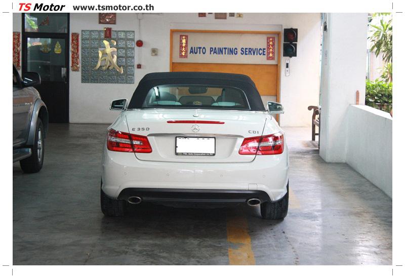 IMG 6534 งานซ่อมสีบังโคลนหน้า กันชน และส่วนอื่นๆ Mercedes Benz E350 Cabriolet สีขาว จัดให้เนียนที่ TS Motor