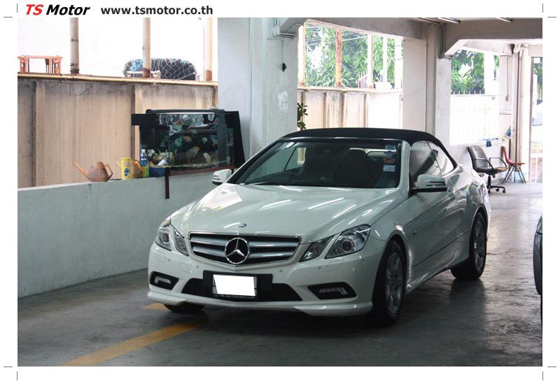 IMG 6535 งานซ่อมสีบังโคลนหน้า กันชน และส่วนอื่นๆ Mercedes Benz E350 Cabriolet สีขาว จัดให้เนียนที่ TS Motor