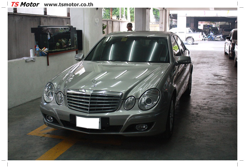 IMG 6617 อู่ซ่อมเบนซ์ Mercedes Benz W211 E230 สีทอง งานพ่นสี เคลมประกัน