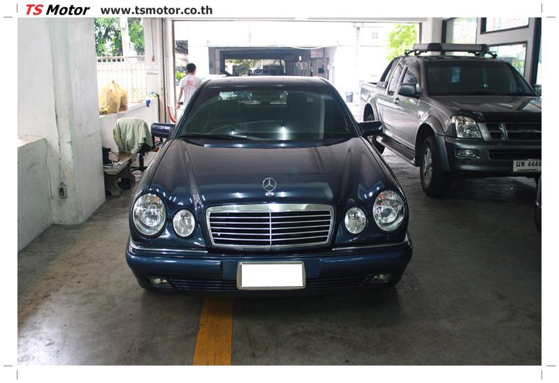 IMG 6843 อู่สีรถ งานซ่อมสี Mercedes Benz W210 Midnight Blue