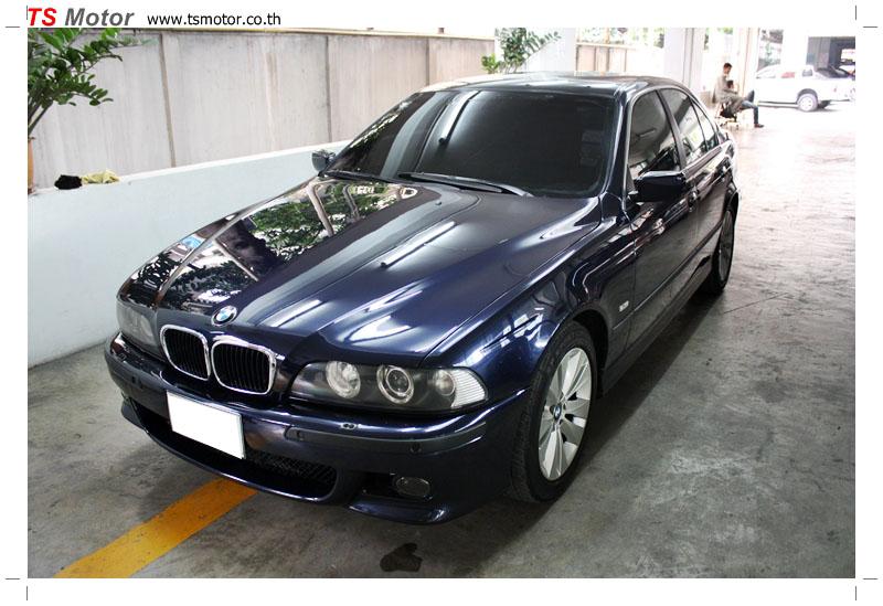 IMG 8966 BMW ซีรีย์ 5 สี MIDNIGHT BLUE ซ่อมสีกันชนหน้า และฝากระโปรงหน้า