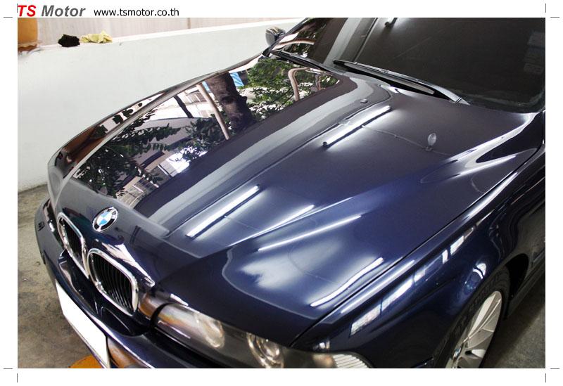 IMG 8967 BMW ซีรีย์ 5 สี MIDNIGHT BLUE ซ่อมสีกันชนหน้า และฝากระโปรงหน้า