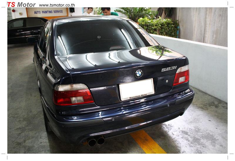 IMG 8968 BMW ซีรีย์ 5 สี MIDNIGHT BLUE ซ่อมสีกันชนหน้า และฝากระโปรงหน้า