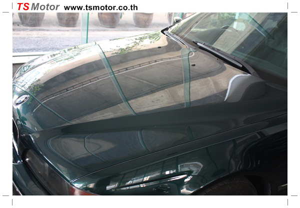 IMG 9532 BMW ซีรีย์ 5 ซ่อมสีกันชน และฝากระโปรงหน้า