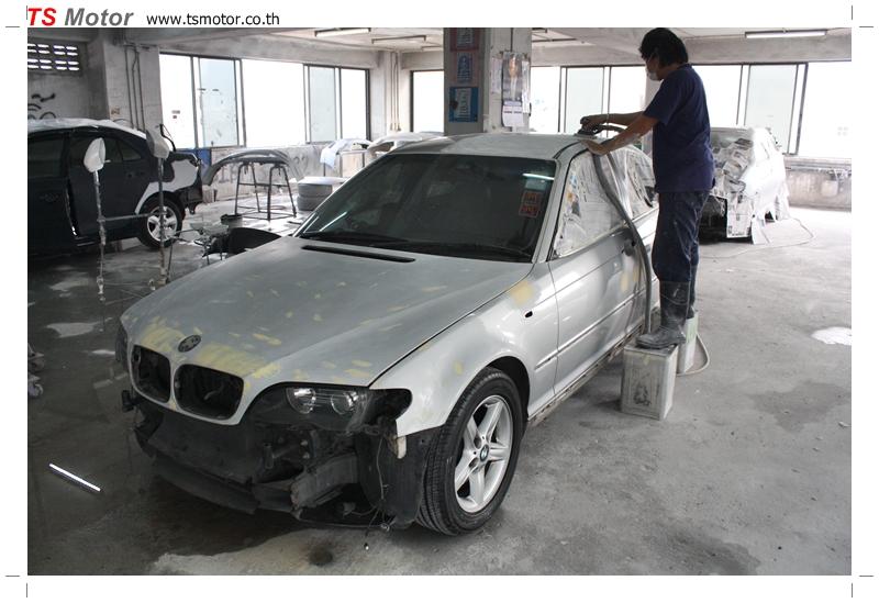 IMG 9638 งานซ่อม BMW ซีรีย์ 3 E46 สี บรอนซ์ ซ่อมสีรอบคัน