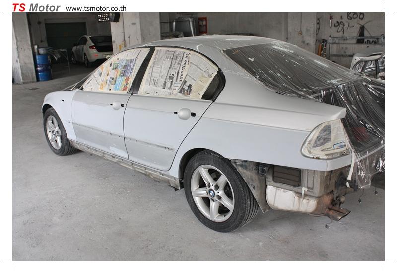 IMG 9649 งานซ่อม BMW ซีรีย์ 3 E46 สี บรอนซ์ ซ่อมสีรอบคัน