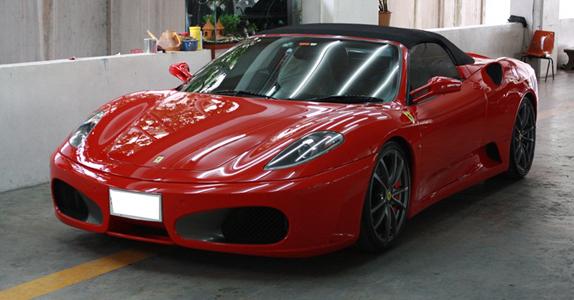 อู่ทำสีรถ งานซ่อมสี เคลมประกัน Ferrari F430 สีแดง